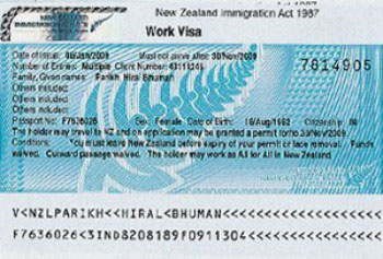visa vào New Zeland