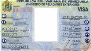 visa vào Venezuela